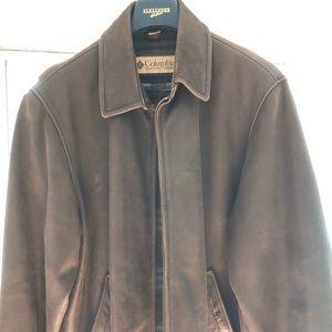 Columbia Men's leather jacket sz XLT